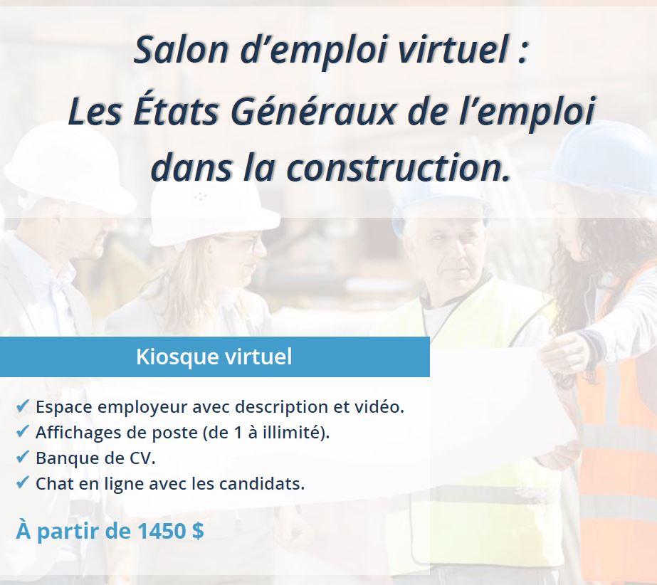 Salon virtuel de l'emploi dans la construction - États Généraux de l'emploi dans la construction
